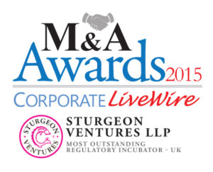 Most Outstanding Regulatory Incubator - UK - M&A Awards 2015 ,Corporate LiveWire - Sturgeon Ventures Award