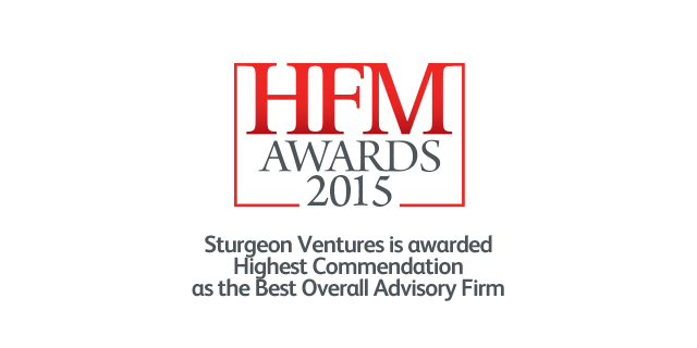 Sturgeon Ventures is awarded Highest Commendation as the Best Overall Advisory Firm