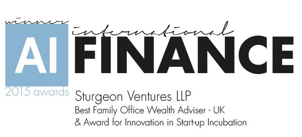 2015 Finance Awards – 2 Wins for Sturgeon Ventures