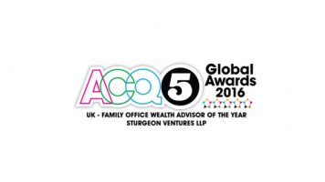 Sturgeon Ventures Wins Multiple Awards at the 11th Annual ACQ5 Global Awards
