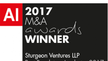 AI M&A 2017 – Two Awards for Sturgeon Ventures