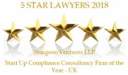 Sturgeon Ventures Start Up Compliance Consultancy Award