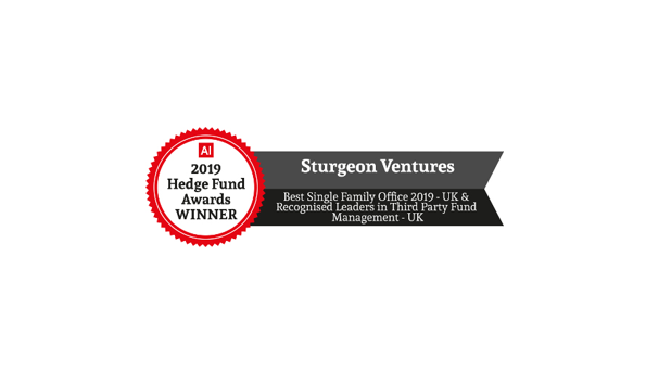 Two Wins for Sturgeon at the AI Hedge Fund Awards 2019