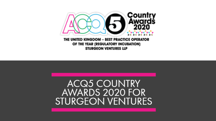 ACQ5 Country Awards 2020 for Sturgeon Ventures