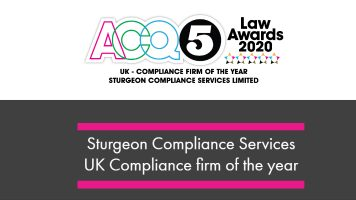 Sturgeon Compliance Services Ltd – UK – ACQ5 Law Awards Compliance Firm of the Year
