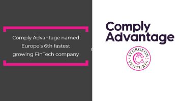 Comply Advantage named Europe's 6th fastest growing FinTech company