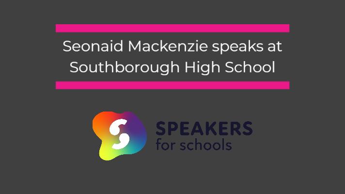 Seonaid speaks at Southborough High School