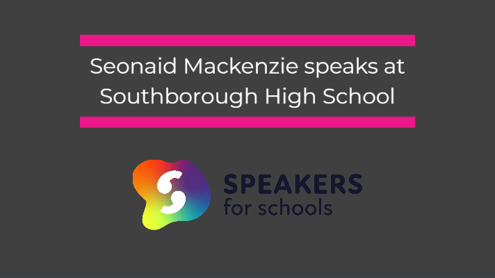 Seonaid speaks at Southborough School