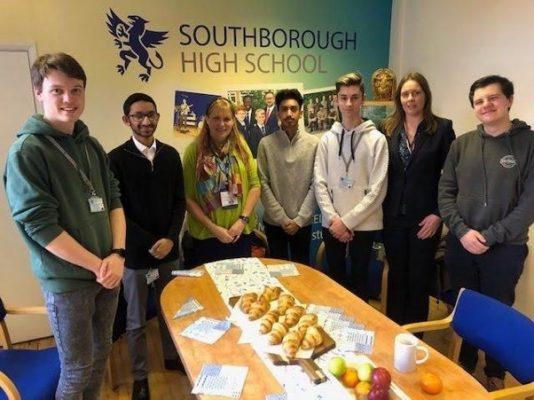 Seonaid Mackenzie speaks at Southborough School