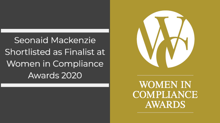 Shortlisted as one of three finalists for The Lifetime Achievement for Contribution to the Compliance Community at The Women in Compliance Awards